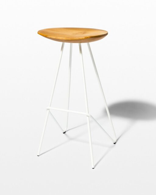 Front view of Glenn Teak and Steel Stool