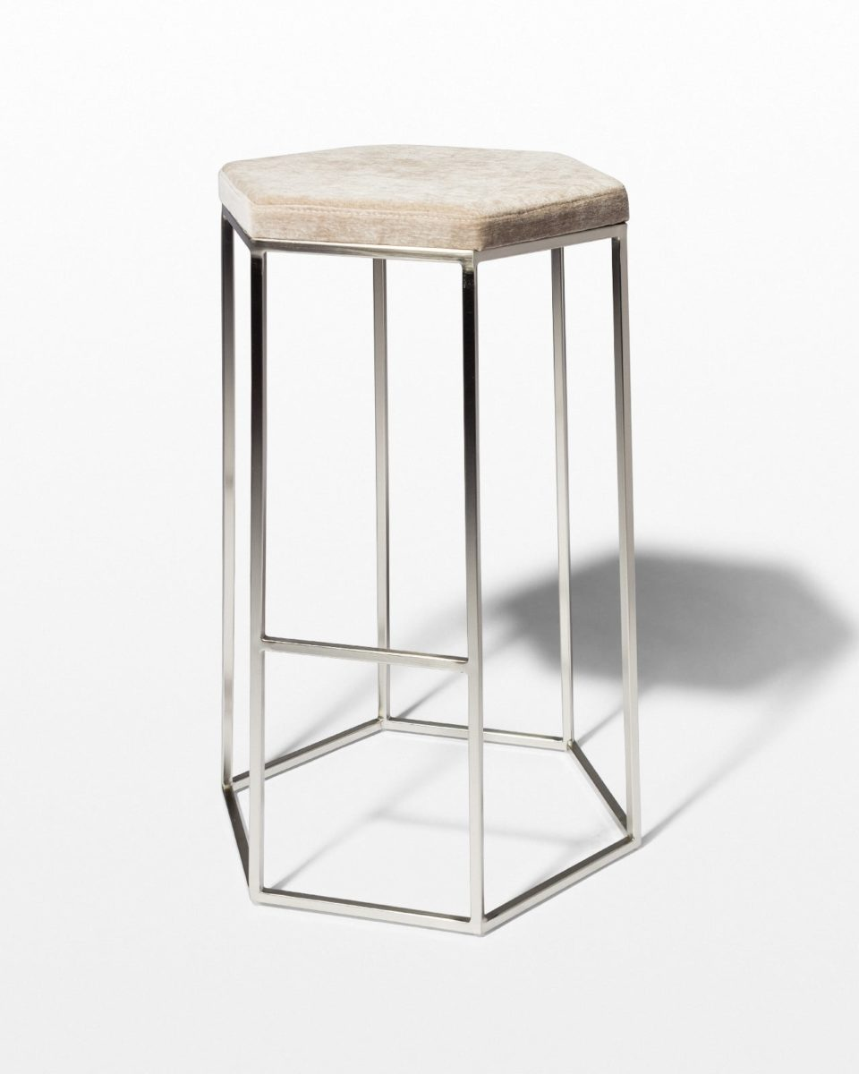 Front view of Aria Hexagon Stool