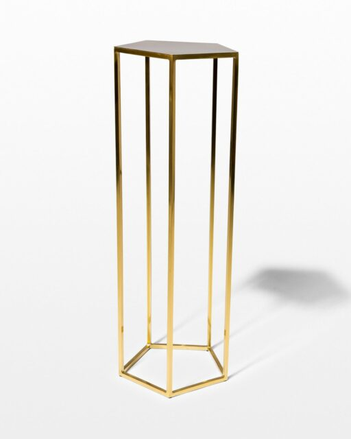 Front view of Guthrie Gold Pedestal Table