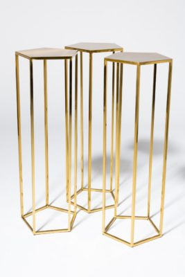 Alternate view 2 of Guthrie Gold Pedestal Table