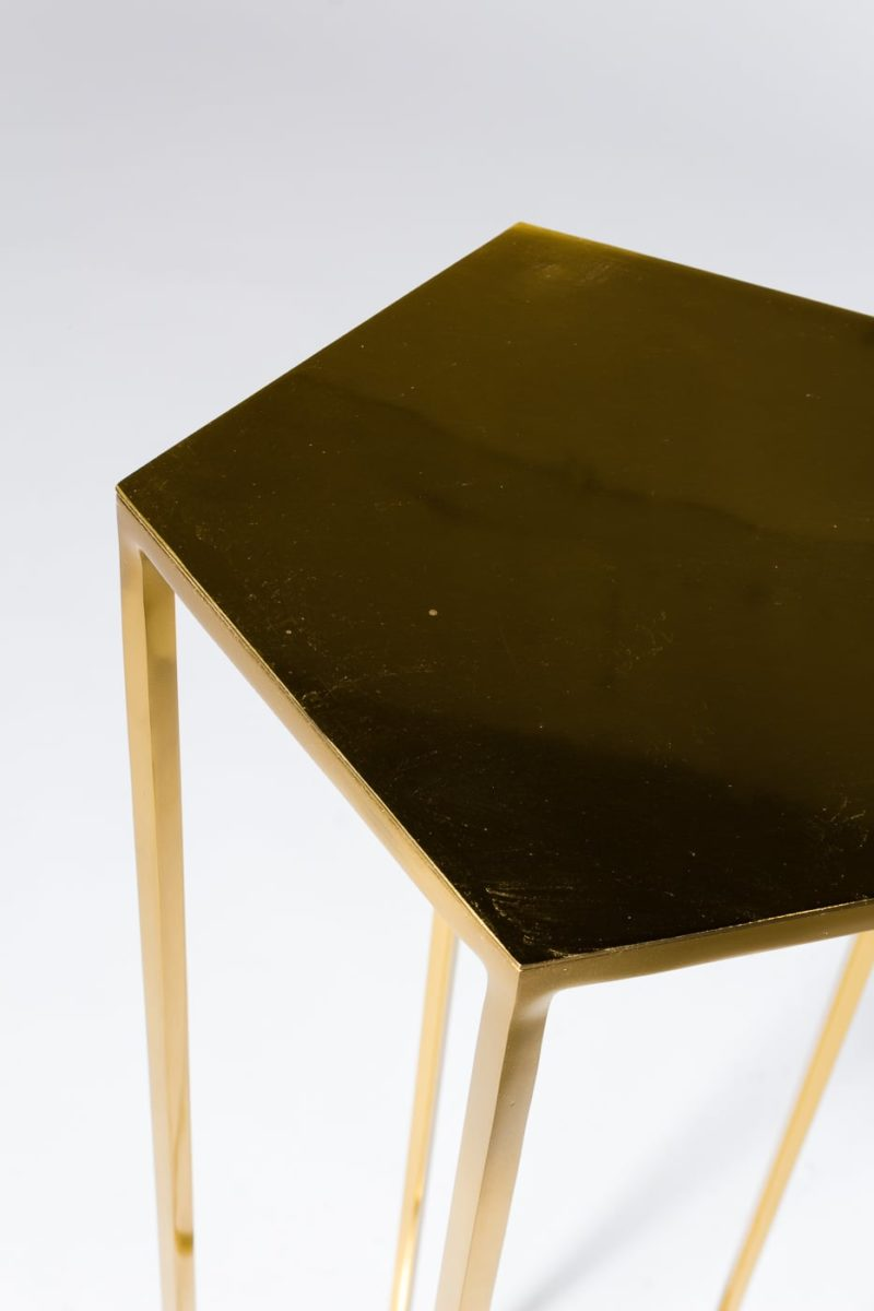 Alternate view 3 of Guthrie Gold Pedestal Table