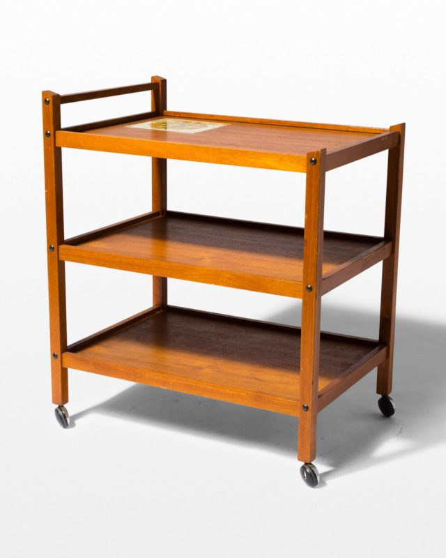 Front view of Archie Bar Cart