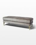 Front view thumbnail of Greybar Velvet Bench
