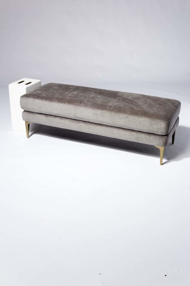 Alternate view 1 of Greybar Velvet Bench