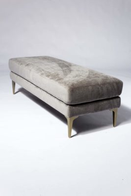Alternate view 2 of Greybar Velvet Bench