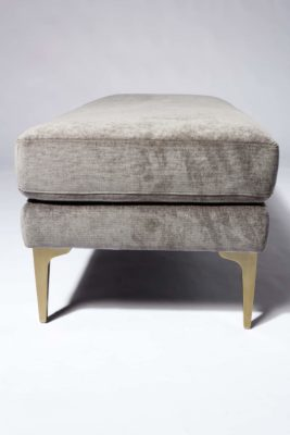 Alternate view 3 of Greybar Velvet Bench