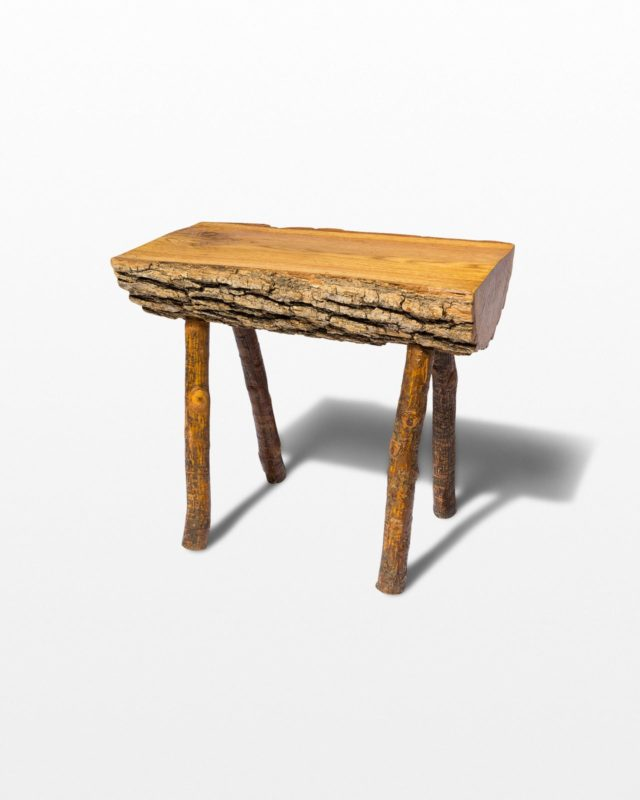 Front view of Log Bench