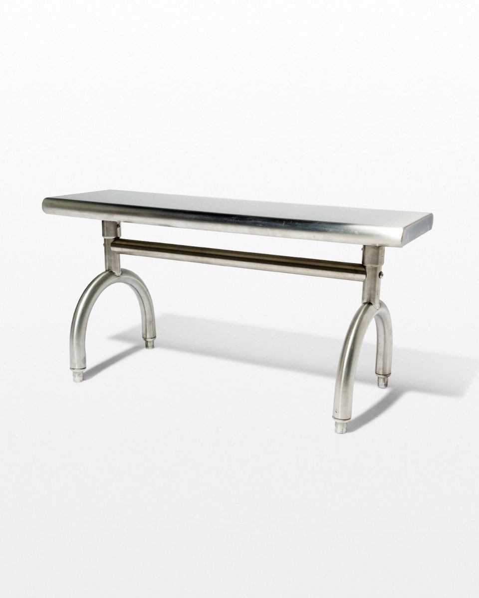 Front view of Arch Stainless Steel Bench