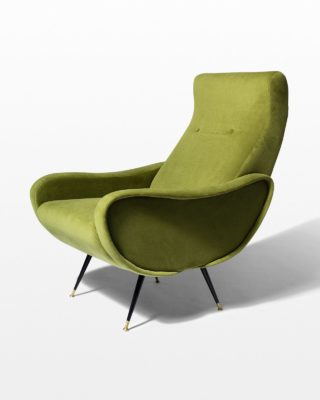 Front view of Lorenzo Green Velvet Chair