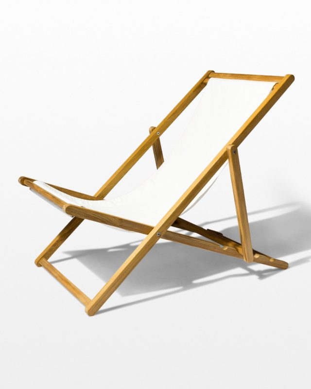 Front view of Bondi Teak Sling Chair