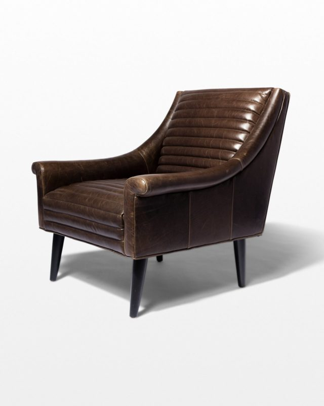 Front view of Napa Channeled Leather Armchair