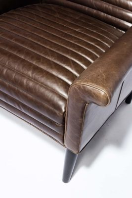 Alternate view 4 of Napa Channeled Brown Leather Armchair