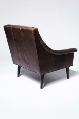 Alternate view 2 of Napa Channeled Brown Leather Armchair