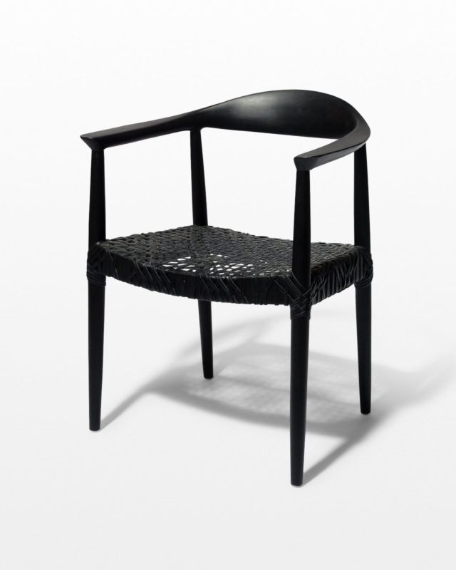 Front view of Moore Black Chair