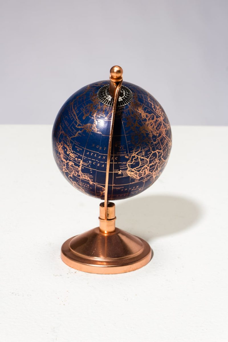 Alternate view 2 of Ocean Blue and Rose Gold Mini Globe