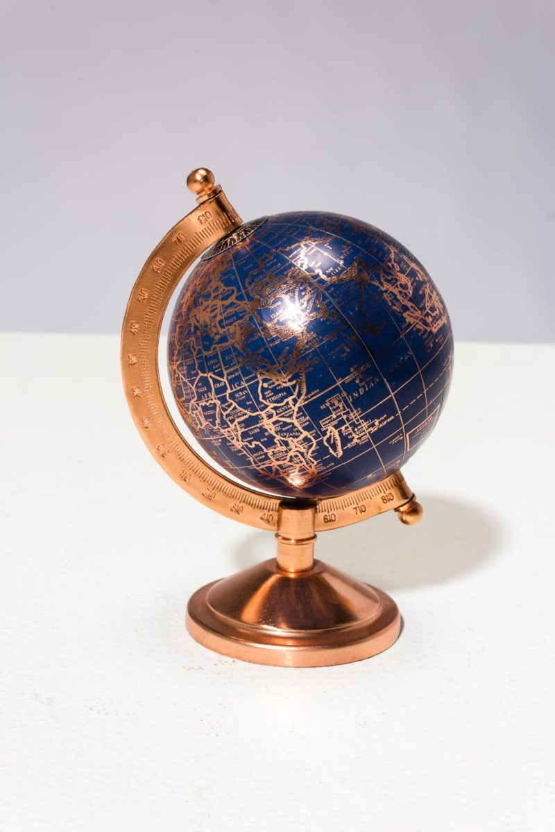 Alternate view 3 of Ocean Blue and Rose Gold Mini Globe