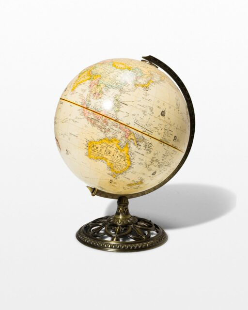 Front view of Scroll Globe
