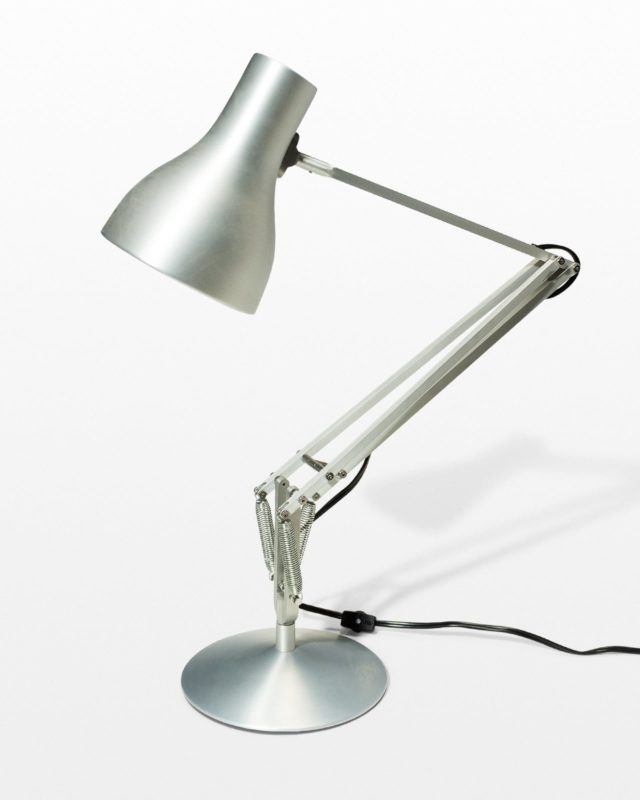 Front view of Redding Silver Task Lamp