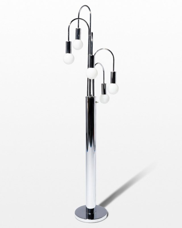Front view of Dane Chrome Floor Lamp