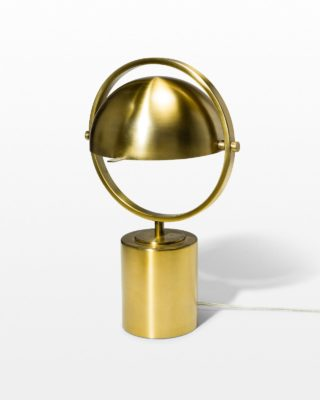 Front view of Bronze Ring Accent Lamp