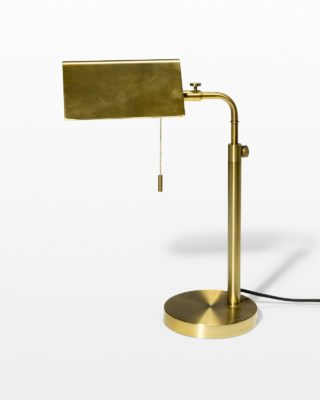 Front view of Bloom Pull Chain Task Lamp