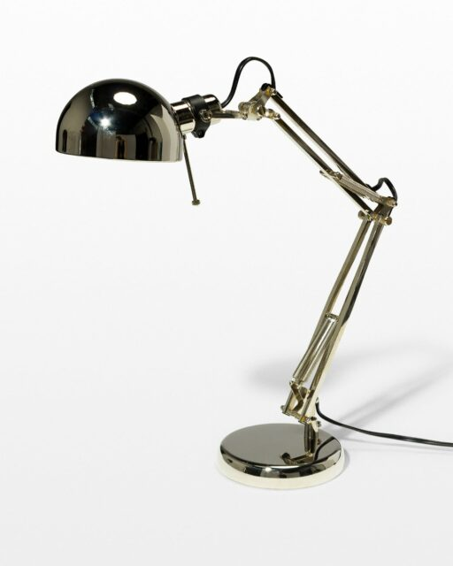 Front view of Morgan Chrome Task Lamp