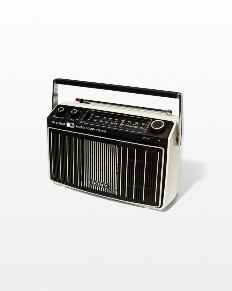 Front view of Matrix Striped Radio