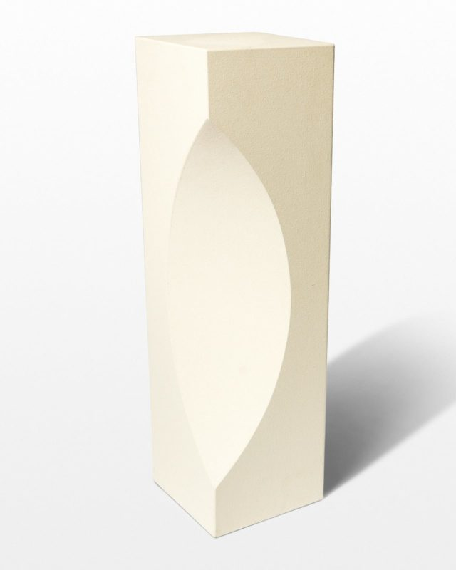 Front view of Zone Sculptural Pedestal