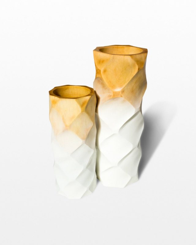 Front view of Ombre Wooden Vase Set