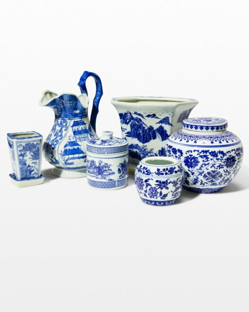 Front view of Ming Ceramic Setting Set