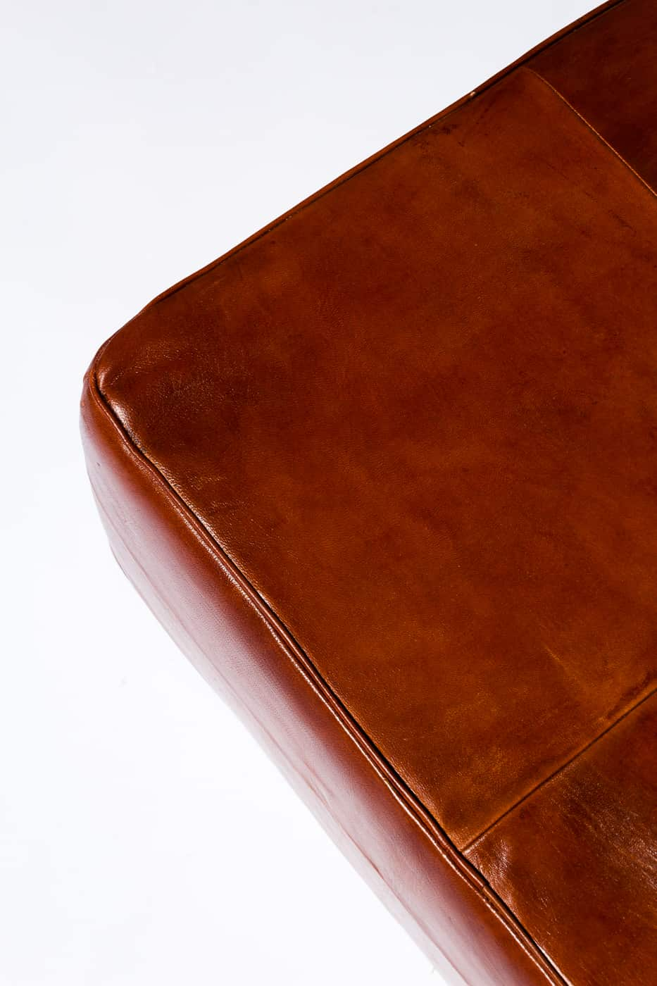Sg051 Cognac Leather Floor Pillow Prop Rental Acme Brooklyn