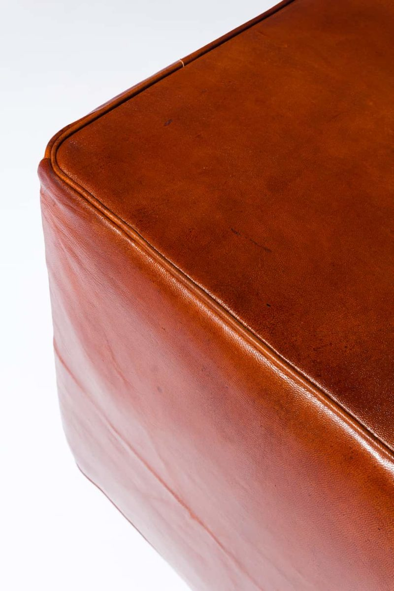 Alternate view 2 of Cognac Leather Ottoman