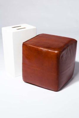 Alternate view 1 of Cognac Leather Ottoman