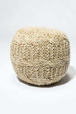 Alternate view 3 of Juno Fuzzy Wool Pouf