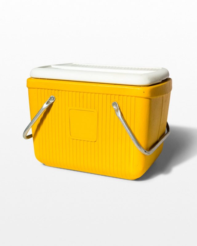 Front view of Roman Yellow Cooler