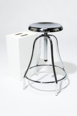 Alternate view 3 of Coach Chrome Adjustable Stool