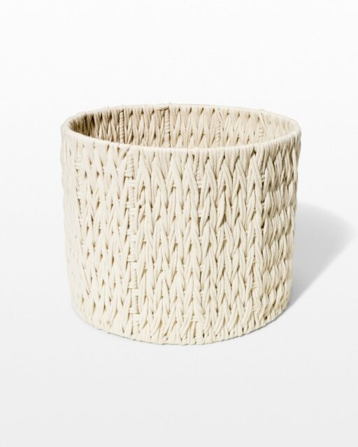 Front view of Ali Woven Macrame Basket