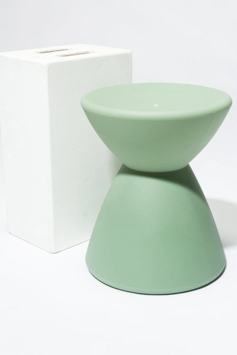 Alternate view 2 of Sage Green Hourglass Table Stool