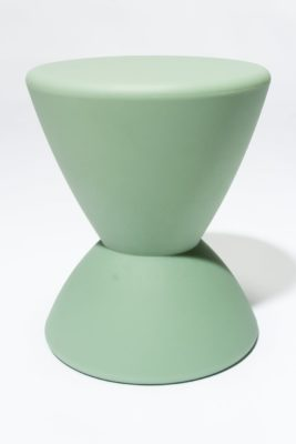 Alternate view 3 of Sage Green Hourglass Table Stool