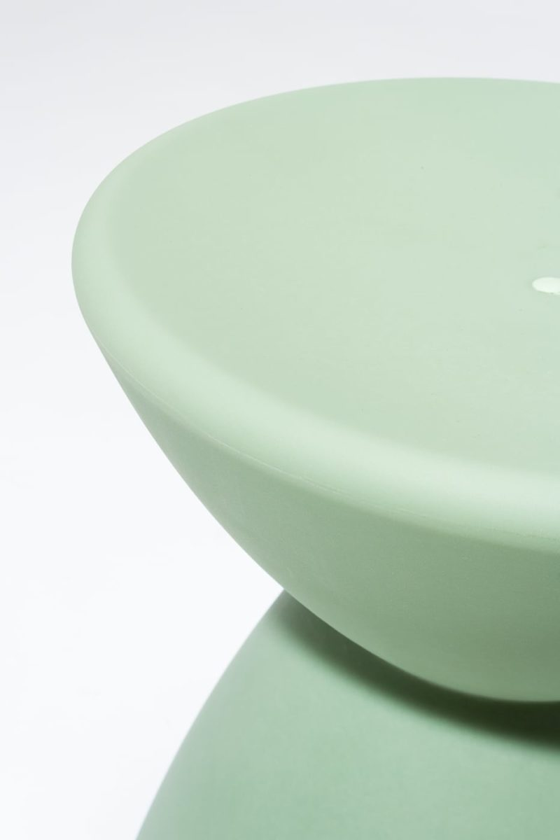 Alternate view 1 of Sage Green Hourglass Table Stool