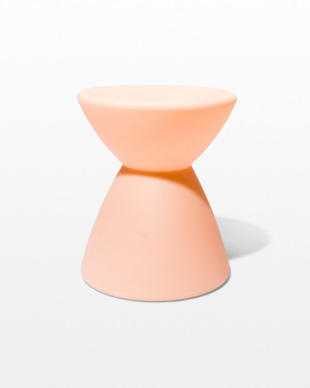 Front view of Rose Hourglass Table Stool