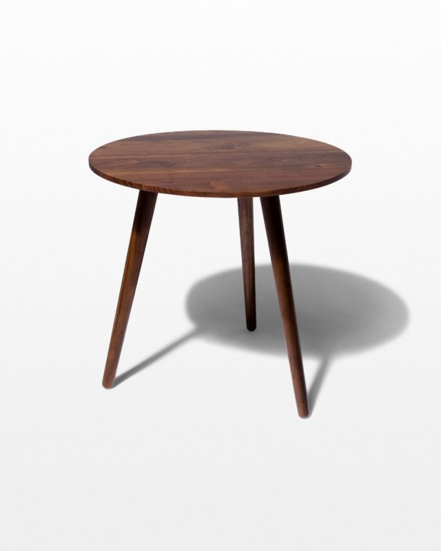 Front view of Tacoma Walnut Side Table