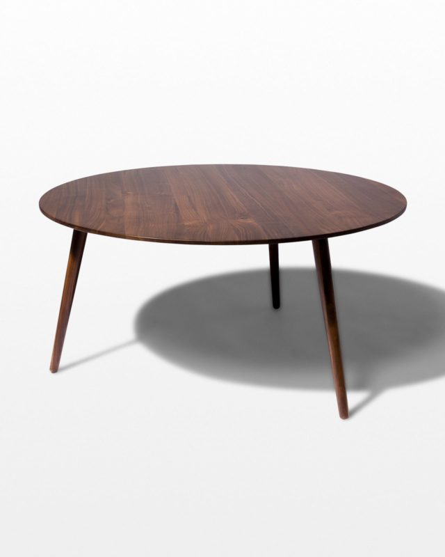 Front view of Tacoma Walnut Coffee Table