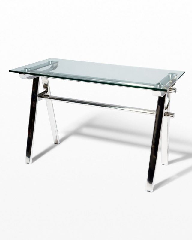 Front view of Jeremy Chrome Table Desk
