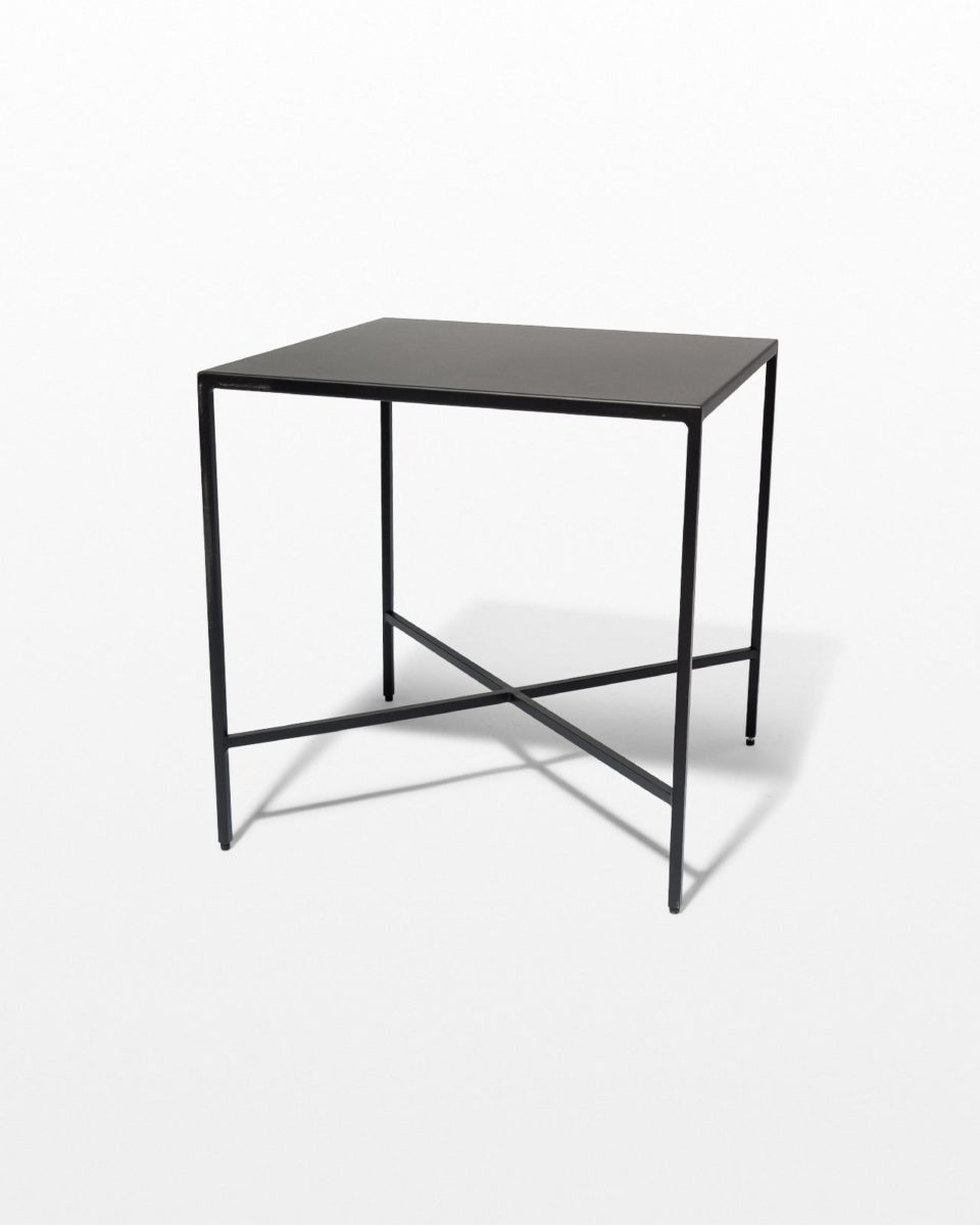 Front view of Ralph Iron Side Table