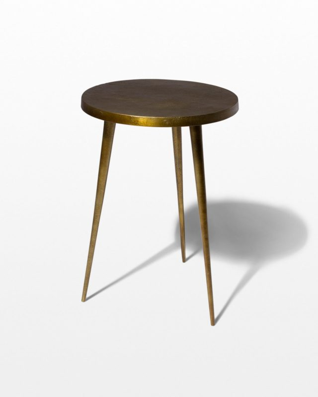 Front view of Jasper Antiqued Brass Side Table