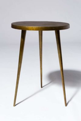 Alternate view 2 of Jasper Antiqued Brass Side Table