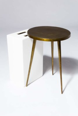 Alternate view 1 of Jasper Antiqued Brass Side Table
