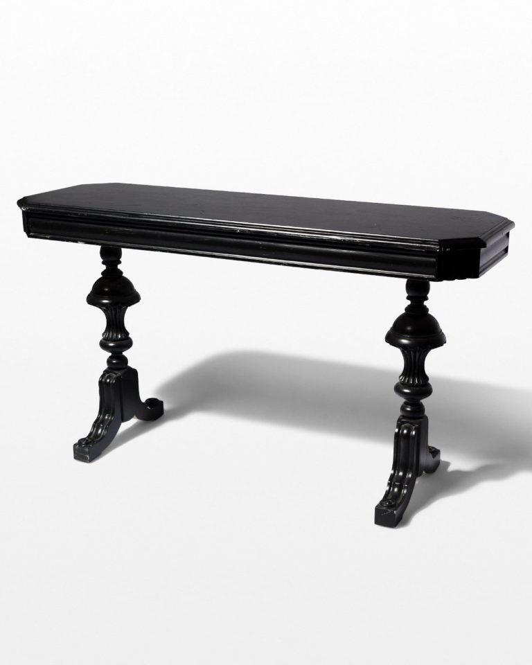 Front view of Nickel Black Console Table