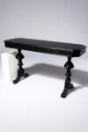 Alternate view thumbnail 1 of Nickel Black Console Table